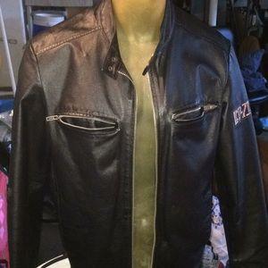 Led Zeppelin Leather jacket. From hard rock casino